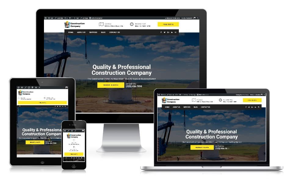 Responsive web design construction