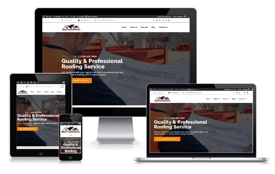 Responsive web design roofing